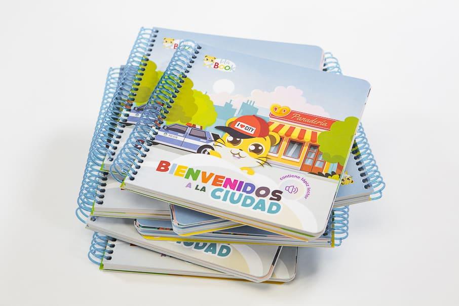 Pack de tres libros interactivos de cartón blabook